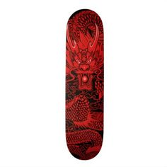 Eastern Ninja Dragon Red Element Custom Pro Deck - red gifts color style cyo diy personalize unique