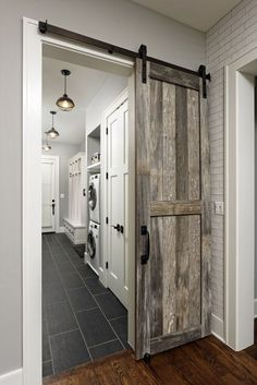 """See our internet site for additional information on """"laundry room storage diy sh. See our internet site for additional information on """"laundry room storage diy shelves"""". Mudroom Laundry Room, Laundry Room Remodel, Laundry Room Design, Farmhouse Laundry Rooms, Vintage Laundry Rooms, Laundry Room Inspiration, Rustic Doors, Interior Barn Doors, New Homes"""
