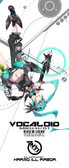 ANTI-WORLD: Miku by MONQMONK.deviantart.com on @deviantART