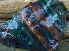 The New Gypsy Blue Kaleidoscope Jasper from Central Oregon.