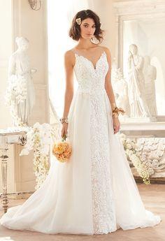 Lace V-Neck Overskirt Dress