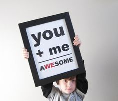 WIN a You + Me = Awesome Print in the colors of your choice at The Funky Monkey. Giveaway ends 8/3/12.
