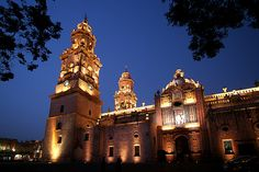 Churches in México .Morelia, Michoacan, Mexico