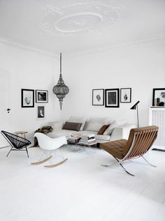 """urbnite: """" Eames Molded Rocking Chair Acapulco Chair Barcelona Chair by Mies Van der Rohe """""""