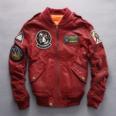 >> Click to Buy << 2016 New Women's Genuine Leather Jackets 100% Real Goat Skin Multi- labeling Embroidery O-Neck Collar Bomber Motorcycle Jackets #Affiliate Motorcycle Leather, Motorcycle Style, Motorcycle Jackets, Motorcycle Fashion, Women Motorcycle, Men's Leather Jacket, Leather Jackets, Red Leather, Nasa Clothes