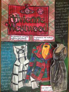 Dominique Holt's Vivienne Westwood 'Tartan Project' research page 1 Fashion Design Sketchbook, Medical Illustration, Illustration Character Design, Fashion Design Drawings, Fashion Collage, Illustration Fashion Design, Textile Artists, Art Portfolio