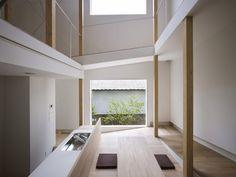 'house of slope' by fujiwaramuro architects in sakai, osaka, japan