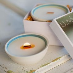 Warm comforting soy candle SANCTUARY blue agave by Luminology, $44.00