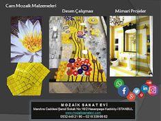 Mozaik Sanat Evi: Sarının cazibesi cam mozaikler