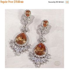 A personal favorite from my Etsy shop https://www.etsy.com/listing/253691727/bridal-jewelry-bridal-earrings-wedding