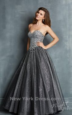 c7fc041553ff5 Glittering Fantasy Sparkle Gown from Night Moves by AllureShine like a  princess in this perfect evening dress from Night Moves by Allure The  strapless swe