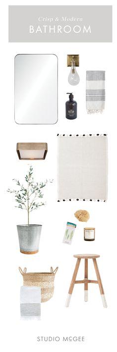 Crisp & Modern Master Bath Design Board Inspiration — STUDIO MCGEE