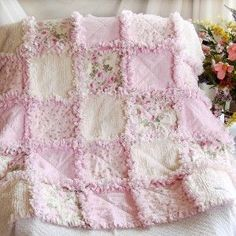 shabby roses rag quilt. Rag quilts are some of my favorites.