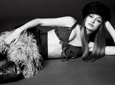 Supermodel Gigi Hadid graces the November 2017 cover of Vogue Japan lensed by Luigi & Iango. The blonde stunner turns up the shine factor in a fur hat and coat from Miu Miu with a glittering dress also from the brand. For the accompanying spread, Gigi looks super glam in pieces from the fall collections....[Read More]