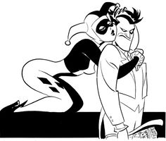 Harley Quinn and The Joker Sketch by Bruce Timm