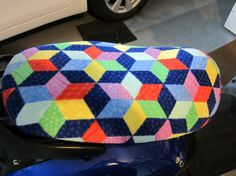 Yamaha Vino Scooter Seat Cover by ScootalongSeatCovers on Etsy---I just died!! Omg I want!!!
