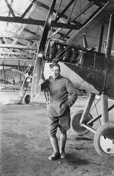 Q 72898  Sergeant Smith of No. 49 Squadron RFC by an R.E.8 two-seat biplane.