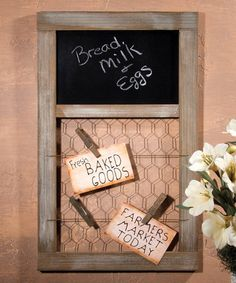 Another great find on #zulily! Chicken Wire Memo Board by Ohio Wholesale, Inc. #zulilyfinds