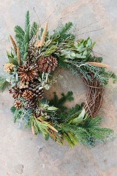 Image result for edgy & elegant Christmas wreaths
