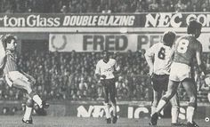9 November 1985 Graeme Sharp scores Everton's sixth, and final, goal in a 6-1 demolition of Arsenal