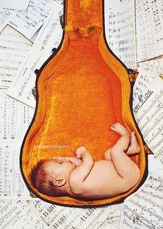 newborn ~ instrument ~ hobby ~ guitar