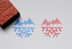 Mountain & snowflake