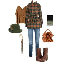 """Outfit of the week - Plaid & Fedoras"" by kateholland on Polyvore"