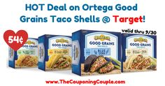 Taco night anyone? Pick up these CHEAP shells at Target thru 9/30! HOT Deal on Ortega Good Grains Taco Shells @ Target!  Click the link below to get all of the details ► http://www.thecouponingcouple.com/hot-deal-on-ortega-good-grains-taco-shells-target/ #Coupons #Couponing #CouponCommunity  Visit us at http://www.thecouponingcouple.com for more great posts!