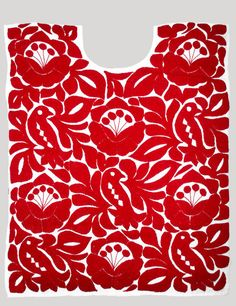 cotton embroidered oaxaca blouse red white