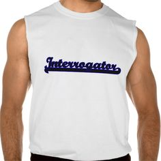 Interrogator Classic Job Design Sleeveless Tee Tank Tops
