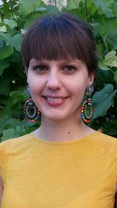 Christina modeling Animto earrings and a stunning smile:) #doricsengeri #earrings #animato #fashion