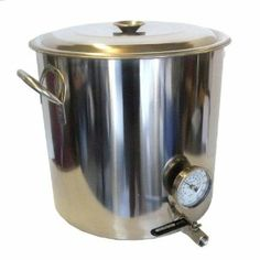 """32 Quart Economy Stainless Kettle w/ Bazooka Screen . $144.84. Includes Stainless °F Thermometer (1/2"""" NPT w/ weldless kit. Includes Stainless Bazooka screen strainer. 32 qt size for full wort boil on 5 gallon batches. Stainless Steel, Polished finish All holes are pre drilled, all gaskets & Seals included. Includes Stainless compact valve (1/2"""" NPT Threads, 3/8"""" flow port). 32qt Stainless Steel Kettle with Female bulkhead and Bazooka Screen These kettles are made..."""