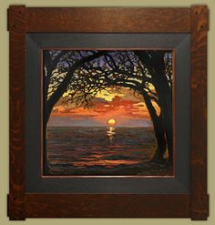 November Sun by Jan Schmuckal Oil ~ 12 (painting size) x 12 (painting size)