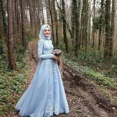 Cheap vintage lace gowns, Buy Quality vintage chair directly from China vintage looking wedding gowns Suppliers: 2016 Light Sky Blue Islamic Wedding Dresses Cheap Muslim Long Sleeves Lace Floor Length Bridal Gowns Custom Made China Vintage Muslimah Wedding Dress, Muslim Wedding Dresses, Muslim Dress, Blue Wedding Dresses, Wedding Dresses Plus Size, Dress Wedding, Wedding Hijab, Boho Wedding, Tulle Prom Dress