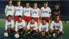 Angulo, el primero abajo por la izquierda, en su etapa en la cantera del Sporting.
