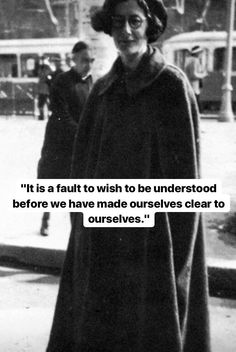 — Simone Weil // To be clear with ourselves means to use our ego as a sounding board, a compass to determine what's good, and what's toxic for us. Poem Quotes, Words Quotes, Life Quotes, Sayings, Funny Quotes, Philosophical Quotes, Writing Poetry, Note To Self, Thought Provoking