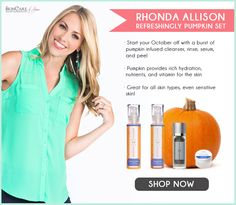 Get your pumpkin on with the Rhonda Allison Refreshingly Pumpkin Set