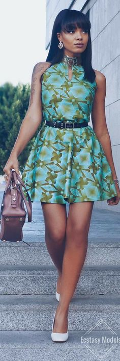 Beautiful Print Dress by  @etniks_lisboa // Fashion Look by Olaj Arel