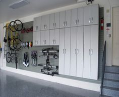 Clutter overtaking your garage? Cant find your gardening tools or toys? Get a head start on your spring cleaning with these garage organization ideas. Garage Storage Solutions, Diy Garage Storage, Garage Shelving, Garage Shelf, Shelves, Home Organization Wall, Garage Organisation, Organization Ideas, Workshop Organization