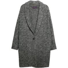 Violeta by Mango Mohair Knitted Cocoon Coat, Medium Grey