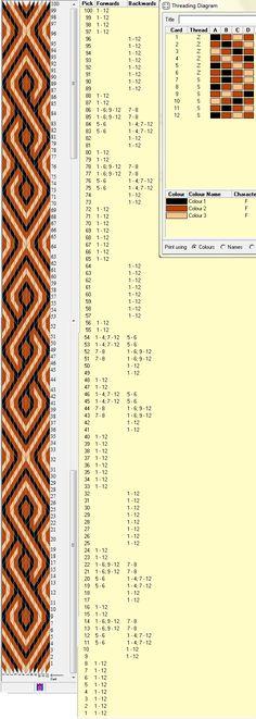 12 tarjetas, 3 colores, repite cada 64 movimientos // sed_173༺❁