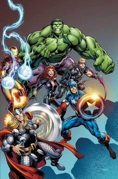#Avengers #Fan #Art. (Avenger Assemble) By: By: Mark Bagley. (THE * 5 * STÅR * ÅWARD * OF: * AW YEAH, IT'S MAJOR ÅWESOMENESS!!!™)[THANK Ü 4 PINNING!!!<·><]<©>ÅÅÅ+(OB4E)    https://s-media-cache-ak0.pinimg.com/564x/01/3e/6a/013e6a8b27ba41c6a71997749d6a7a95.jpg
