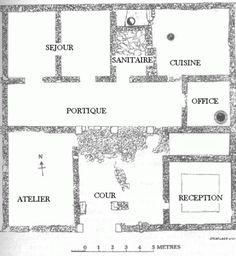 plan maison grecque