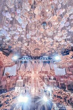 Wedding Stage Design, Wedding Stage Decorations, Wedding Set Up, My Perfect Wedding, Magical Wedding, Glamorous Wedding, Wedding Ceremony, Wedding Venues, Winter Wonderland Wedding Theme
