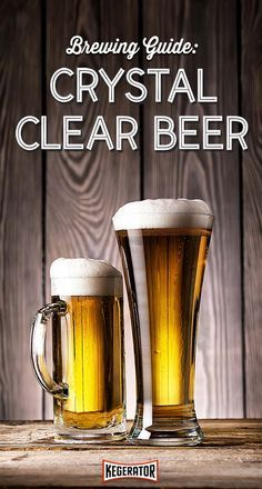 Brewing Guide: How to brew crystal clear beer Brewing equipment How to Brew Clear Beer Beer Brewing Kits, Brewing Recipes, Homebrew Recipes, Beer Recipes, Coffee Recipes, Make Beer At Home, How To Make Beer, Man Cave Designs, Diy Man