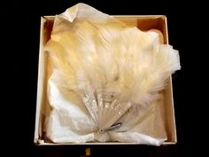1900s Victorian Girl's Feather Fan with original box by BountyFromThePast on Etsy