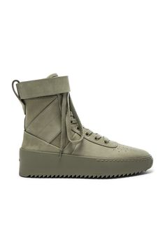 e0e8cb218b6 FEAR OF GOD Nubuck Leather Military Sneakers.  fearofgod  shoes   Mens  Attire