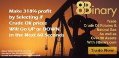 Binary Options trading from 8Binary.com Crude Oil Futures, Make Money Online, How To Make Money, Trading Brokers, Forex Trading, Investing
