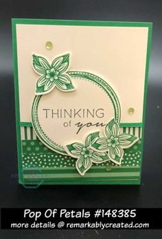 Pop of Petals showcases the new Stampin' UP! In Colors = Call Me Clover