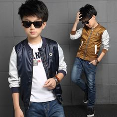 2016 Autumn Korean Style Kids Clothes Boys Fashion Long-Sleeved Embroidered Soccer Kids Jacket Boys Clothes Outerwear Coat